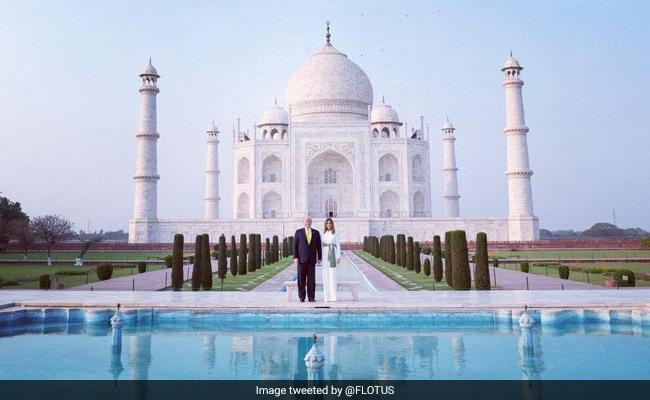 'POTUS And FLOTUS At Taj Mahal': Melania Trump Tweets Video Of Guided Tour