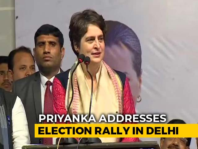 Video : Priyanka Gandhi Vadra Slams PM Modi, Arvind Kejriwal At Delhi Rally