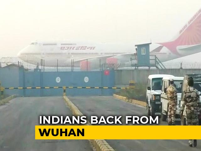 Video : Coronavirus Scare: Air India Special Flight Brings Back Stranded Indians From Wuhan