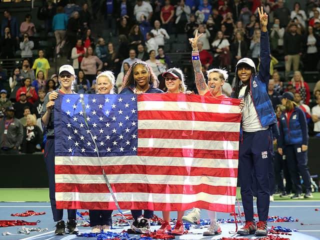 Sofia Kenin, Bethanie Mattek-Sands Help USA Beat Latvia to Reach Fed Cup Finals