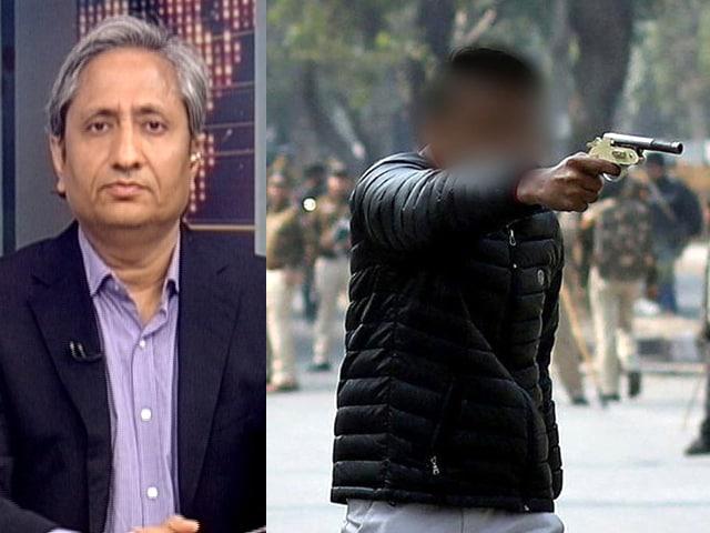 Video : Watch: Ravish Kumar's Report On Teen Shooter At Jamia Protest