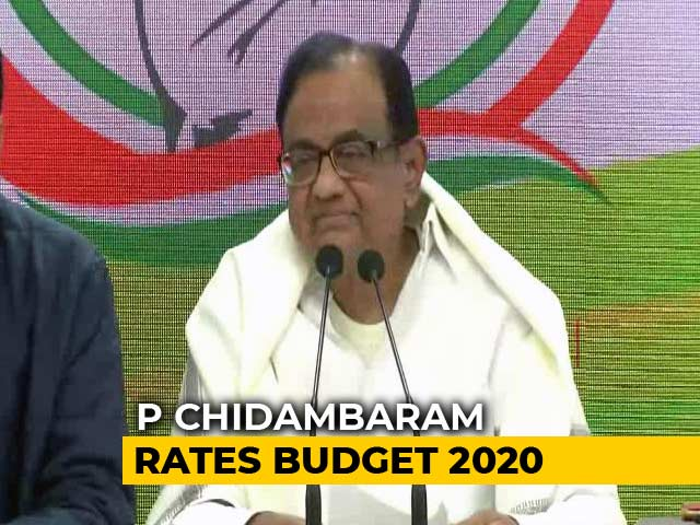 Video: Asked To Rate Budget, P Chidambaram's Epic Response