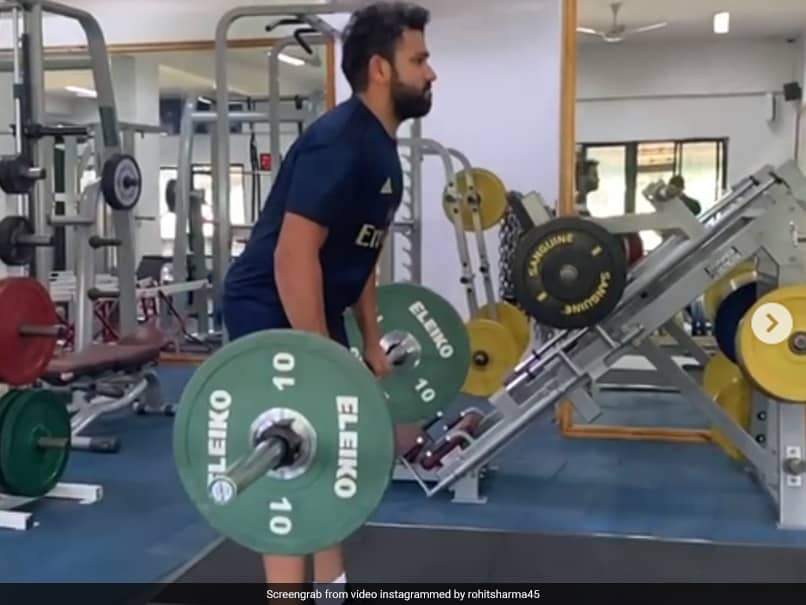 """Only 40 kg?"" Harbhajan Singh Trolls Rohit Sharmas Workout Video"