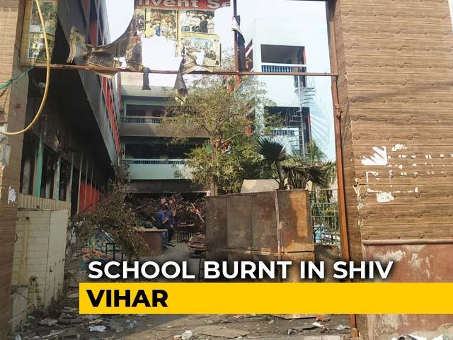 Video : Delhi Violence: School Burnt, Blackboards Smashed, Furniture Set On Fire