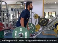 """Only 40 kg?"" Harbhajan Singh Trolls Rohit Sharma's Workout Video"