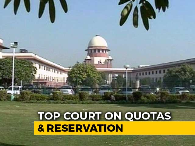 """Video : """"Reservations For Jobs, Promotions Not A Fundamental Right"""": Top Court"""
