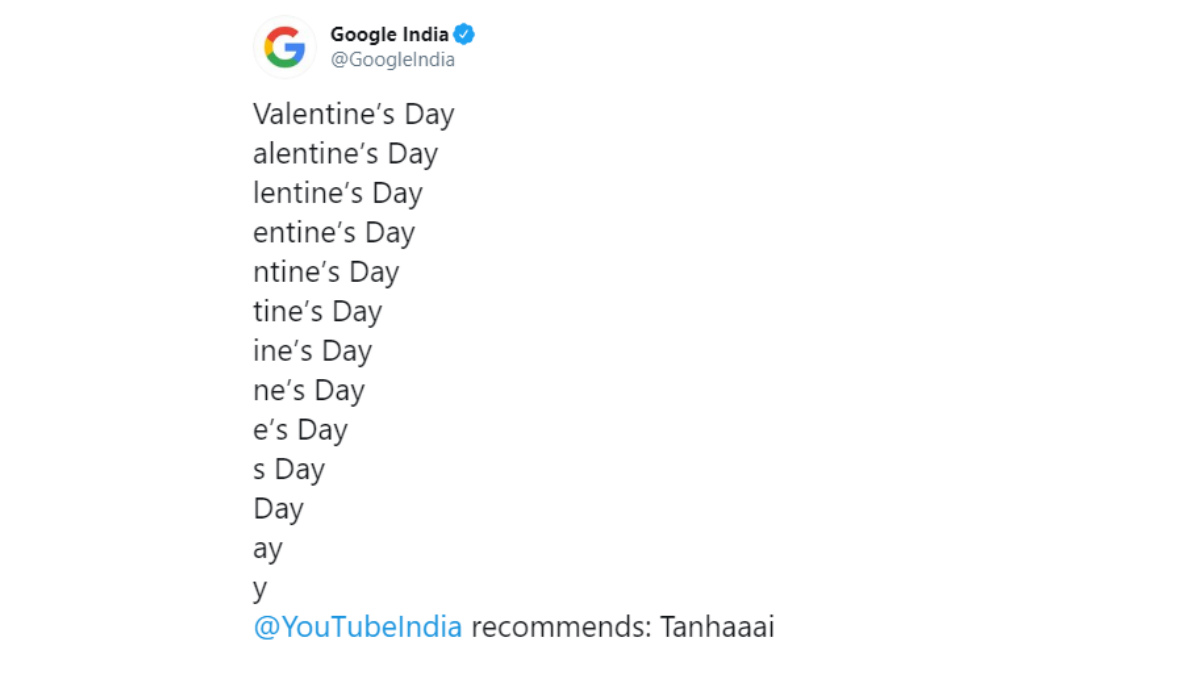 Valentine's Day 2020: Google बना 'ट्रोल', सिंगल लोगों को मारा 'तनहाई' का ताना