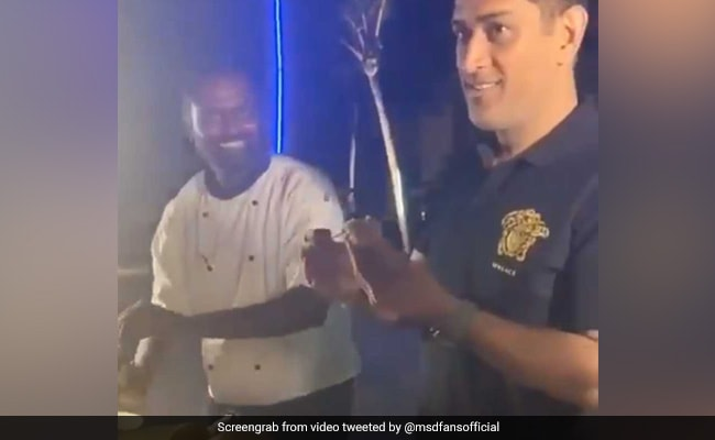 This Viral Video Of MS Dhoni Serving Pani Puri Makes Fans Wish They Were There Too