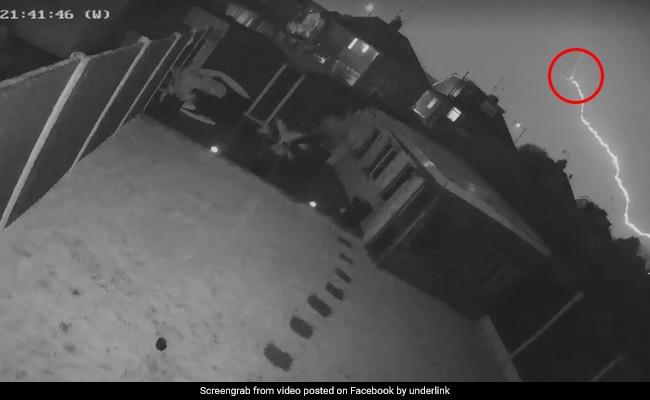 Caught On Camera: Lightning Bolt Strikes Passenger Plane During Storm