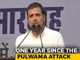 "Video : ""Who Benefited Most?"": Rahul Gandhi's 3 Questions On Pulwama Anniversary"