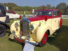 Classic Cars And Bikes Line Up at 21 Gun Salute Concours d'Elegance Held In India