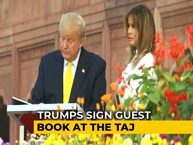 Video : Trump In Agra: 'Taj Mahal Inspires Awe'