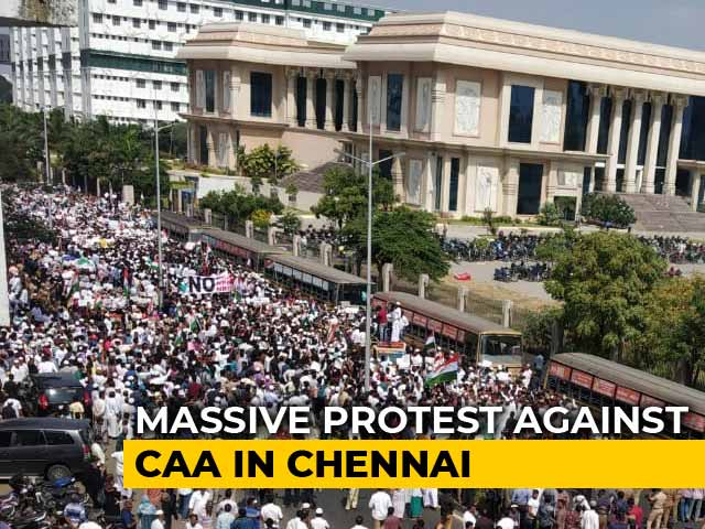 Video : Thousands Of Muslims March In Chennai Against Citizenship Law