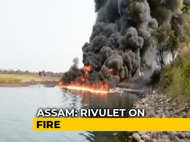 Video : Assam River On Fire For 2 Days After Crude Oil Pipeline Bursts