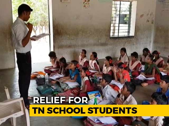 Video : Relief For Tamil Nadu School Students, No Public Exams For Class V And VIII