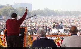 Watch: Arvind Kejriwal Sings 'Hum Honge Kamyaab' At Third Oath Ceremony