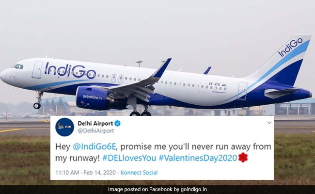 Delhi Airport And IndiGo's Valentine's Day PDA Is Twitter Gold