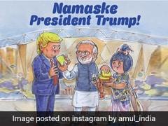 Amul ने ऐसे किया डोनाल्ड ट्रंप का स्वागत, डूडल में पीएम मोदी ने अपने हाथ से खिलाया ब्रेड-बटर