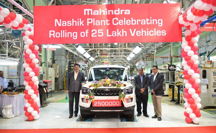 Mahindra's Nasik Plant Rolls Out 25th Lakh Vehicle