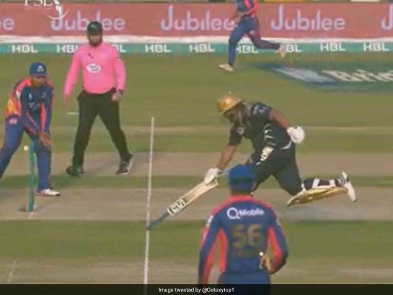 Moin Khans Son Completes Run Holding Bat Upside-Down In Pakistan Super League. Watch Video