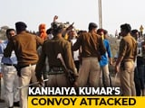Video : Stones Thrown At Left Leader Kanhaiya Kumar's Convoy Near Arrah In Bihar