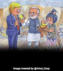''Namaske President Trump'': Amul Welcomes POTUS With Special Comic