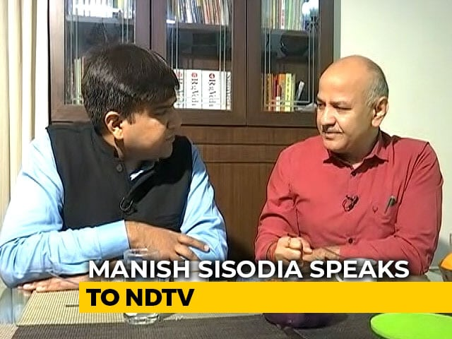 "Video : ""When We Joined Politics, People Said..."": Manish Sisodia On AAP's Rise"