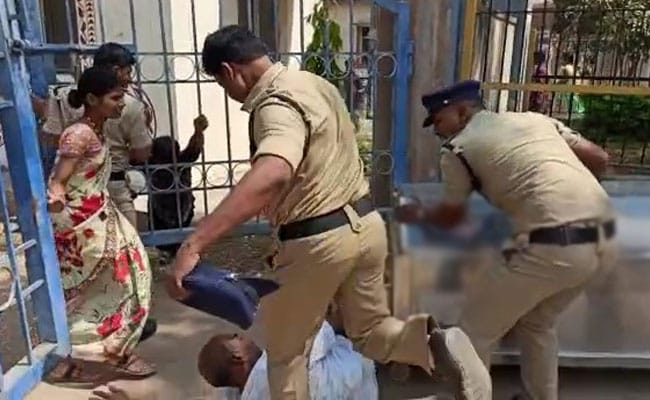 Telangana Suspends Cop For Kicking Grieving Father Of Dead Teen