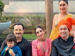 Kareena Kapoor, Saif Ali Khan, Karisma, Randhir Kapoor And Tamiur In A Perfect Family Portrait