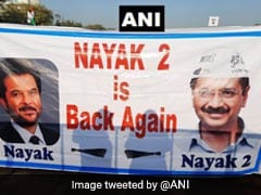 """Nayak 2 Is Back Again"": Poster At Arvind Kejriwal's Swearing-In Venue"
