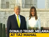Video : US President Donald Trump, Melania Visit Taj Mahal