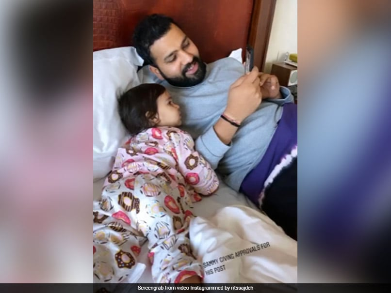 Rohit Sharma Seeks Approval From Daughter For Social Media Post In Cute Video