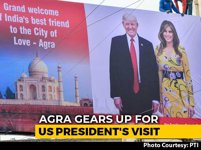 "Video : Donald Trump To Be Gifted ""Key Of Agra"" Made Of Silver During Taj Visit"