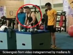 MS Dhoni ने जिम में हवा में उछलकर किया ऐसा स्टंट, देखते रह गए लोग, देखें Video