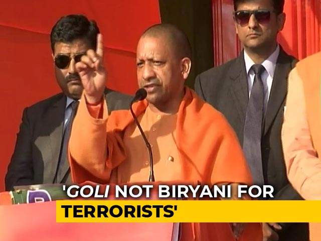 "Video : ""Arvind Kejriwal Busy Offering <i>Biryani</i> At Shaheen Bagh"": Yogi Adityanath"