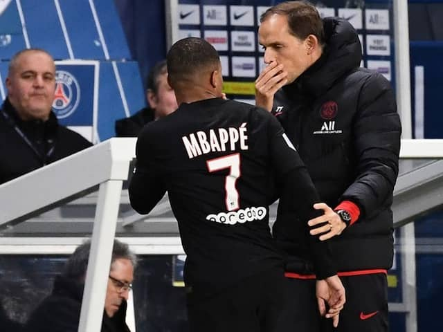 Watch: PSG Star Kylian Mbappe Involved In Fiery Touchline Exchange With Manager Thomas Tuchel