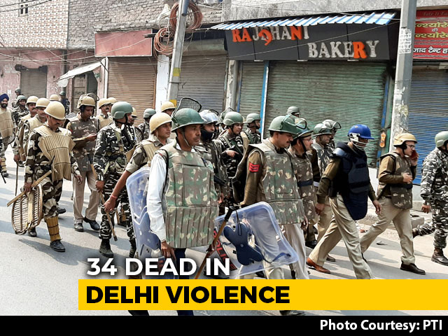 Video : 34 Dead In Delhi Violence. 130 Arrests So Far, Say Sources
