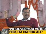 """Video : """"I Forgive Opponents For Their Remarks"""": Arvind Kejriwal"""