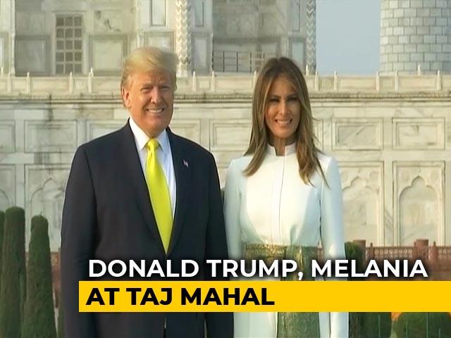 Video : US President Donald Trump, Melania Visit Taj Mahal