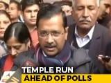 Video : Arvind Kejriwal At Hanuman Temple For Divine Aid As Delhi Readies To Vote