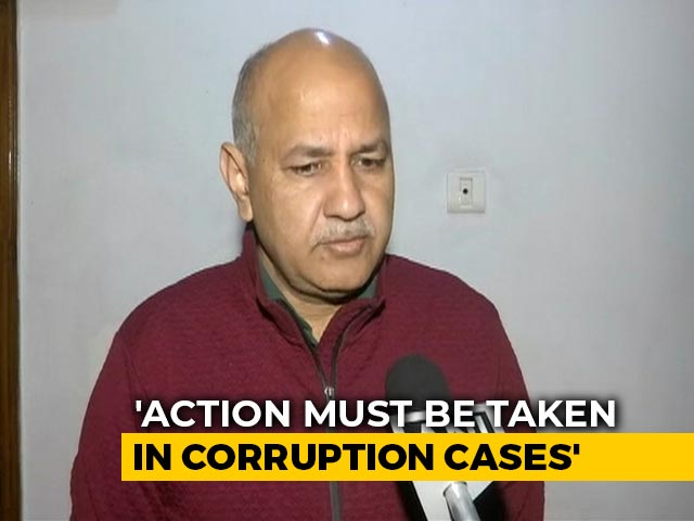 """Video : """"What CBI Did Is Right"""": Manish Sisodia On Official's Arrest For Bribe"""