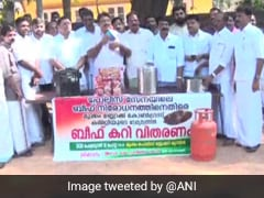 Congress Workers Distribute Beef Curry Outside Kerala Police Station