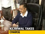 Video : Arvind Kejriwal Takes Charge As Delhi Chief Minister, At The Delhi Secretariat.