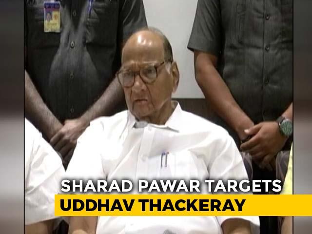 Video : Sharad Pawar Targets Uddhav Thackeray On Transfer Of Bhima-Koregaon Case