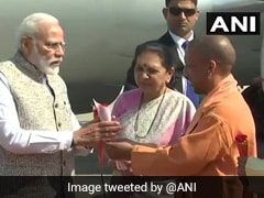 PM Modi Arrives In Varanasi, Will Launch Over 30 Projects