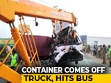 Video : 19 Dead After Container Comes Off Truck, Hits Passenger Bus In Tamil Nadu
