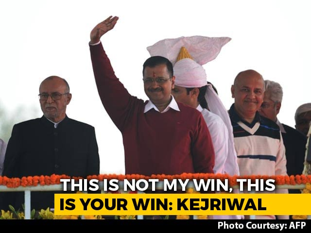 "Video : ""Chief Minister For BJP, Congress Voters Too"": Arvind Kejriwal After Oath"