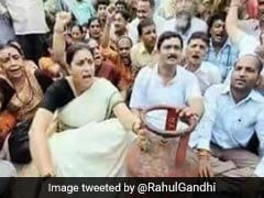 """Astronomical Price Hike"": Rahul Gandhi Jabs Smriti Irani With Old Pic"