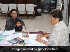"""Youngest Participant"": Kiran Bedi Allows Officer's Child In Official Meet"