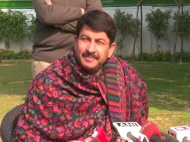 """Video : """"Anything Can Happen"""": Manoj Tiwari's Message To BJP Workers"""